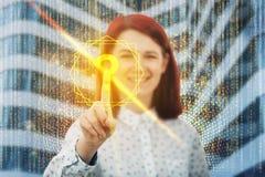Goldene Antwort stockfoto