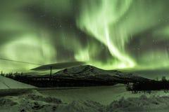 Goldene Aurora Stockbilder