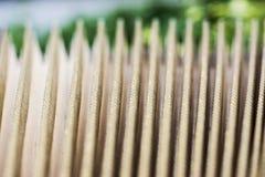 Goldene Bälge als aart von einem accordian Lizenzfreie Stockfotos