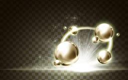 Goldene Ballelemente Lizenzfreies Stockfoto