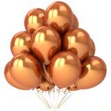 Goldene Ballone Stockbilder