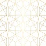 Goldene Beschaffenheit Nahtloses geometrisches Muster Lizenzfreies Stockbild