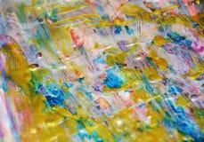 Goldene Beschaffenheit, wächserner abstrakter Hintergrund, klarer Hintergrund des Aquarells, Beschaffenheit Stockbilder