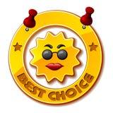 Goldene beste auserlesene Sonne Lizenzfreies Stockbild