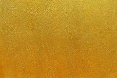 Goldene Betonmauer Stockbilder