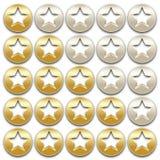 Goldene Bewertungssterne Stockfotos