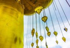 Goldene Bhodi-Blätter Lizenzfreies Stockbild