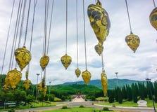Goldene Bhodi-Blätter Stockbild