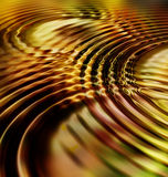 Goldene Blatt-Kräuselung-Wellen Lizenzfreie Stockfotografie