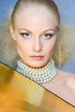 Goldene Blondine Lizenzfreies Stockfoto
