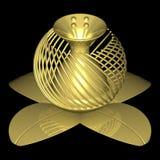 Goldene Blume 003 Lizenzfreie Stockfotografie