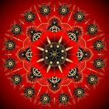 Goldene Blumen-Mandala Dekorative Elemente der Weinlese Orientalisches Muster, Illustration Islam, Arabisch, Inder, Marokkaner, S stock abbildung