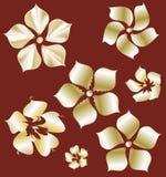 Goldene Blumen mit Steigung - Element für Design Stockfotografie