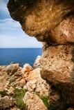 Goldene Bucht in Malta Lizenzfreie Stockbilder