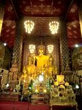 Goldene Buddha-Bilder in Thailand Lizenzfreies Stockbild