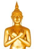 Goldene Buddha-Statue Lizenzfreies Stockbild