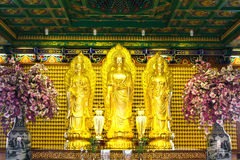 Goldene Buddha-Statue im chinesischen Tempel Lizenzfreies Stockfoto