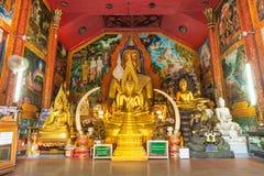 Goldene Buddha-Statue in Tempel Thailands Buddha Stockbild