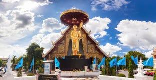 Goldene Buddha-Statue in Tempel Thailands Buddha Stockfoto