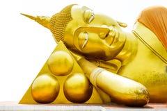 Goldene Buddha-Statue trennte Stockbilder