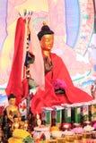 Goldene Buddha-Statuette Stockfotografie