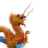 Goldene chinesische Drachestatue Lizenzfreies Stockbild