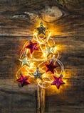 Goldene Christbaumkerzen Stockfoto