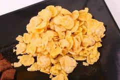 Goldene Corn-Flakes stockfotos