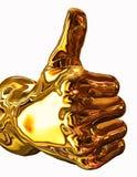 Goldene Daumen oben lizenzfreie abbildung