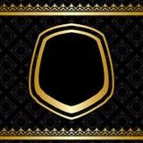 Goldene Dekorationen auf schwarzem Hintergrund Stockfoto