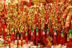 Goldene Dekorationen des traditionellen Chinesen Lizenzfreies Stockbild