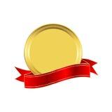 Goldene Dichtung Stockbild