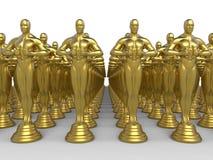 Goldene Diplomatiestatuettenpreise Stockfoto