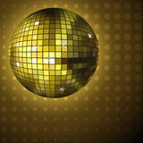 Goldene Discokugel Lizenzfreies Stockbild