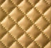 Goldene echtes Leder-Beschaffenheit Lizenzfreies Stockbild