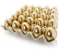 Goldene Eier Lizenzfreie Stockfotografie