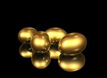 Goldene Eier Stockfoto