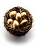 Goldene Eier Stockfotos