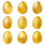 Goldene Eier eingestellt Lizenzfreie Stockfotos