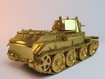 Goldene eingebildete 3d Tankkonzeption Stockfotos