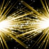 Goldene Explosionen Lizenzfreie Stockbilder