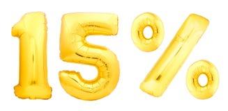 Goldene fünfzehn fünf 15 Prozent Lizenzfreies Stockfoto