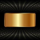 Goldene Fahne Stockfoto
