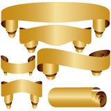 Goldene Fahnen Stockfotos