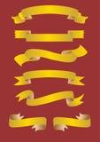 Goldene Fahnen Lizenzfreies Stockbild