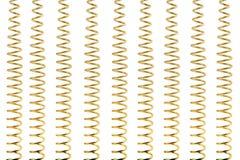 Goldene Federn getrennt Stockfotos
