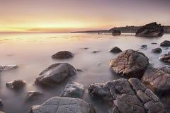 Goldene Felsen lizenzfreies stockfoto