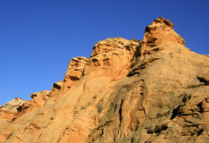 Goldene Felsen-Anordnungen Lizenzfreie Stockfotos