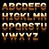 Goldene fette Schrift stellte 1. ein. Lizenzfreies Stockfoto