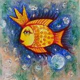 Goldene Fische Abbildung Lizenzfreies Stockbild